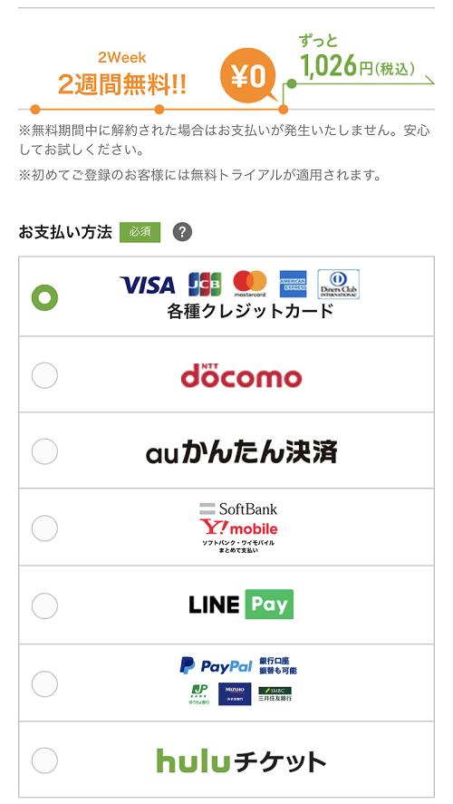 Hulu登録③